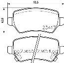 Jeu de 4 plaquettes de frein arrière HELLA PAGID 8DB 355 018-781