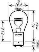 Ampoule, feu stop/feu arrière OSRAM 7528ULT-02B