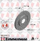 Jeu de 2 disques de frein avant OTTO ZIMMERMANN GMBH 180.2018.52