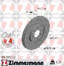 Juego delantero de 2 discos de freno                         OTTO ZIMMERMANN GMBH 180.3012.52