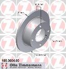Jeu de 2 disques de frein arrière OTTO ZIMMERMANN GMBH 180.3004.00