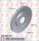 Jeu de 2 disques de frein avant OTTO ZIMMERMANN GMBH 180.3007.00