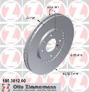 Juego delantero de 2 discos de freno                         OTTO ZIMMERMANN GMBH 180.3012.00