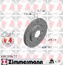 Jeu de 2 disques de frein avant OTTO ZIMMERMANN GMBH 440.2034.52