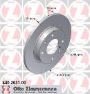 Jeu de 2 disques de frein avant OTTO ZIMMERMANN GMBH 440.2031.00