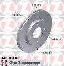 Jeu de 2 disques de frein avant OTTO ZIMMERMANN GMBH 440.2034.00