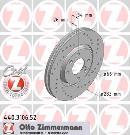 Juego delantero de 2 discos de freno                         OTTO ZIMMERMANN GMBH 440.3106.52