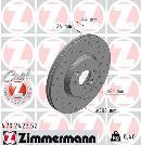 Juego delantero de 2 discos de freno                         OTTO ZIMMERMANN GMBH 470.2423.52