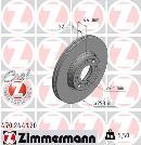 Jeu de 2 disques de frein avant OTTO ZIMMERMANN GMBH 470.2441.20