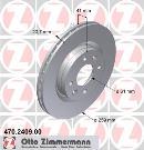 Jeu de 2 disques de frein avant OTTO ZIMMERMANN GMBH 470.2409.00