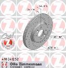Jeu de 2 disques de frein avant OTTO ZIMMERMANN GMBH 470.2412.52