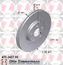 Juego trasero de 2 discos de freno                         OTTO ZIMMERMANN GMBH 470.2427.00