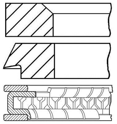Jeu de segments de pistons GOETZE 08-849200-50