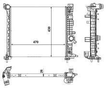 radiateur moteur opel meriva b 1 7 cdti fap 16v 110 cv. Black Bedroom Furniture Sets. Home Design Ideas