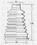 Joint-soufflet, arbre de commande BORG & BECK BCB2226