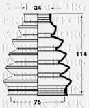 Joint-soufflet, arbre de commande BORG & BECK BCB2352