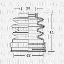 Joint-soufflet, arbre de commande BORG & BECK BCB2771