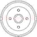 Juego trasero de 2 tambores de freno  BENDIX 329330B