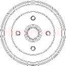 Juego trasero de 2 tambores de freno  BENDIX 329333B